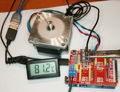 Температура драйвера со штатным радиатором