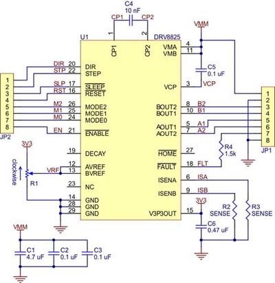 Схема драйвера DRV8825