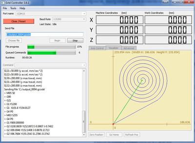 Программа GRBL Controller